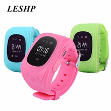 LESHP Q50 Smart watch Children Kid Wristwatch GSM GPRS GPS Locator Tracker Anti-Lost Smartwatch Child Guard for iOS Android