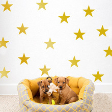 39pcs 3-5cm Cartoon Starry Wall Stickers For Kids Rooms Home Decor Little Stars Wall Decals Baby Nursery DIY Vinyl Sticker Mural(China)