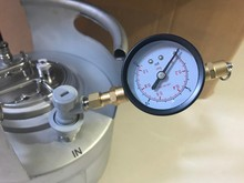 2017 New arrived homebrew Adjustable Pressure Valve w/Gauge With Thread Gas Ball Lock,Kegging equipment for beer brew(China)