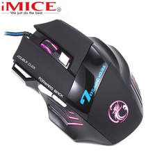 Original iMICE X7 Wired Gaming Mouse 7 Buttons Optical Professional Mouse Gamer Computer Mice For PC Laptop LoL Dota 2 2017 NEW(China)