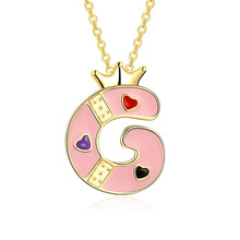 Lovely Cute Capital Letters Pendant Adjustable Gold Chain Necklaces Fashion Jewelry Accessories Gift For Women Girls M8694
