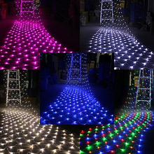 4.5 x 1.5m 300 LED Mesh Net String Fairy Light Xmas Outdoor Wedding Party Lamp