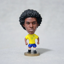"Soccer 2016 Brazil team Jersey 19# WILLIAM (BRA-2016) 2.5"" Toy Doll Figure"