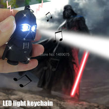led flashlight Darth Vader 3D LED light Keychain With Sound Star War yoda KeyChain Light-Up Toys Creative Gifts figure toy gift
