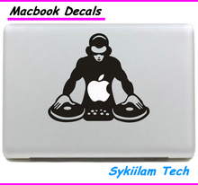 Play DJ Music Sticker for apple Macbook Skin Air 11 13 Pro 13 15 17 Retina Vinyl Decal Laptop Wall Car Logo Case