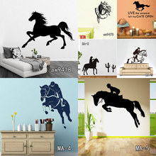 Jumping Horse Wall decal-Horse Sticker-Stylish Vinyl Wall Decal Art Children, Girls Room Wall Sticker Home Decor Free Shipping