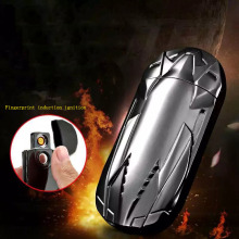 DAROBTL Lighter metal car cigarette lighter fingerprint induction switch USB rechargeable lighter double-sided tungsten fever
