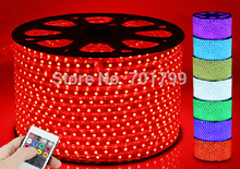 50m/roll AC110V 230V High Voltage SMD 5050 Led Strip light+Power plug,60led/m IP65;14.4W/meter;hight bright