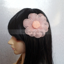 "Pink Flower Hairpin OOAK Headwear For Female 1/4 17"" and 1/3 24"" Tall BJD doll SD MSD DK DZ AOD DD Doll use(China)"