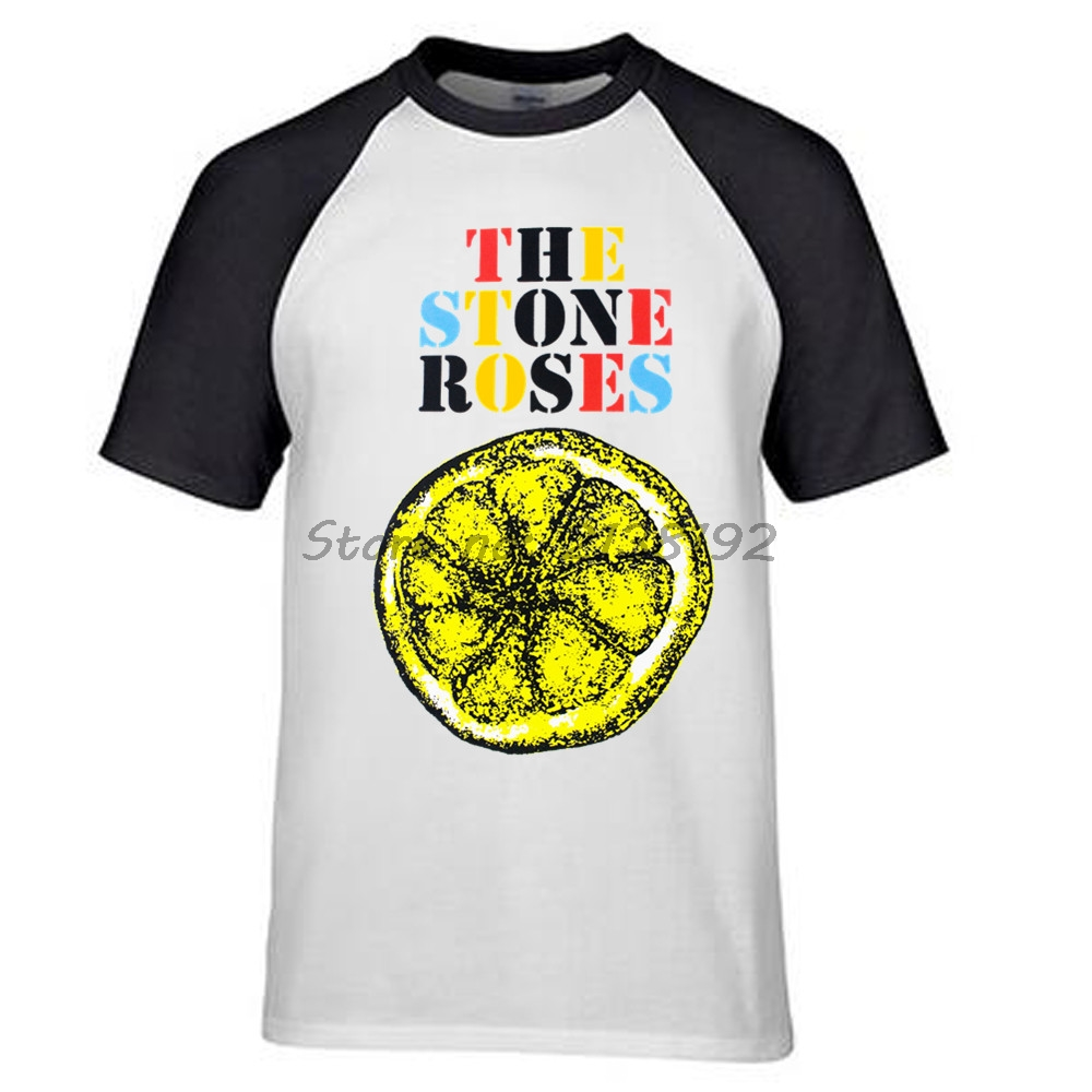 The Stone Roses Lemon raglan men T-Shirt mens brand summer fashion gifr for male boy top tees new 2017(China (Mainland))