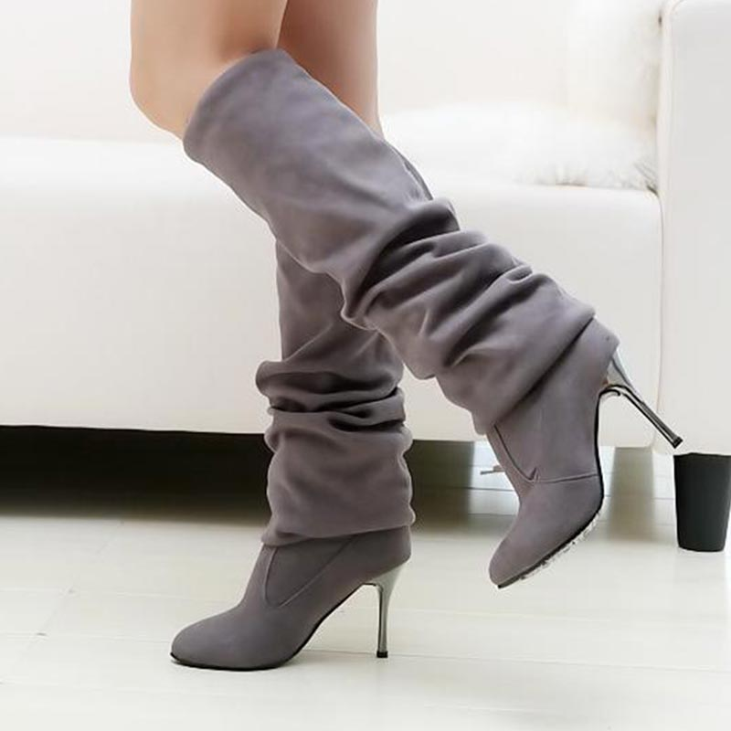 Big Size 34-43 Womens High Heel Boots Over the Knee High Boots for Sexy Lady Fashion Shoes Knight Boots AA235 Free Shipping<br><br>Aliexpress