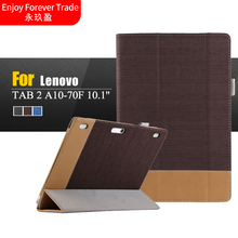 Cover Case for Lenovo tab 2 A10-70L for lenovo tab 2 a10-70F 10.1inch Tablet accessories PU Leather shield cover free shipping(China)
