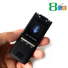 8GB Ultrathin Professional Digital Audio Voice Recorder 1536KBPs WAV MP3 Recording Indirectional Dual Microphone (SK992)