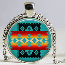 Wholesale Glass Dome Necklace Native American Jewelry Southwestern Necklace Glass Tile