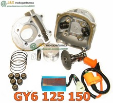 GY6 150 High Performance Big Bore GY6 150cc Big Bore Cylinder, Piston, Rings, & Head with Gaskets