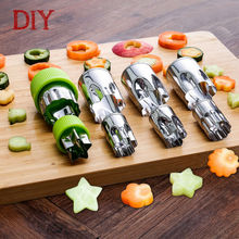 Free ship high quality kitchen tools stainless steel vegetable cutter flower shape fruit cutter cartoon cutting moulds