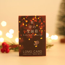 28 pcs/set There's your Christmas lomo card greeting card memo card kids gift postcard kawaii  New Year message gift cards