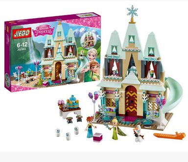 519pcs Arendelle Castle Building Blocks Model Set Princess Anna Elsa Figures Christmas gift Figures Compatible LepinFriends<br><br>Aliexpress