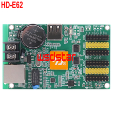HD HD-E62 LED display control card Ethernet & USB port HD E62 HD-E40 Single & Dual Color LED control card E62 3pcs/lot(China)