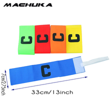 MACHUKA Football Elastic Captain Armband Soccer Rugby Basketball Sports Competition Adjustable Captain Arm Bands 1pc wholesale(China)