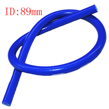 Universal Samco ID:89mm 1M PRICE Reinforced Silicone Vacuum Hose Tubing Intake Silicone Pipe Turbo Intercooler silicone pipe(China)