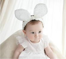 Retail   Headband Head Wraps big Rabbit Bowknot Turban Summer Dot Hairband  Infants Photo Prop Hair Accessories