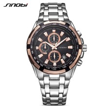 Buy SINOBI Luxury Brand Watch Clock Men Stainless Steel Watchband Strap Man's Quartz Wristwatch Time Relogio Masculino for $18.98 in AliExpress store