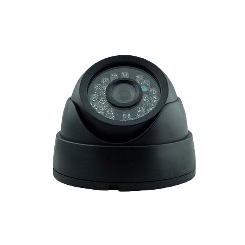 CMOS 600TVL CCTV Black Plastic Dome Security Camera 24IR LED Indoor Night Vision<br><br>Aliexpress