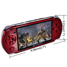 FREE Built-in 5000 games, 8GB 4.3 Inch PMP Handheld Game Player MP3 MP4 MP5 Player Video FM Camera Portable Game Console new ps(China)