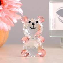 H&D Fashioncraft Choice Crystal Collection Teddy Bear Figurines,Three Colors for Chose,Wedding Home Decoration & X'mas Gifts