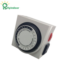 UL Listed Hydroponic 24 Hour Digital Programmable Dual Outlet Grounded Timer Switch Electronic Timer Controller(China)