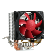 Quiet 3pin Mini CPU Cooler Heatsink Fan Cooling PCCOOLER 2 Heatpipes Radiator with 80mm Fan for Desktop Computer