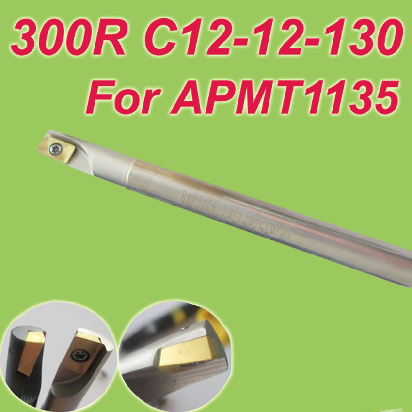 Free Shiping 300R C12-12-130 Insertable Square End Mill Cutting Tools for APMT1135<br><br>Aliexpress