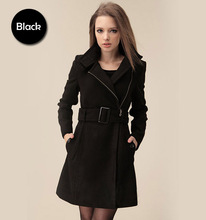 Free PP! Girl Slim Fit Wind Coat Ladies Jacket Red Black Camel Fashion Coat Jacket 2 XL