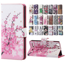 For Lenovo K5 Case Pink Plum Magnetic Leather Wallet Handbag Book Cover Case For Flip Lenovo Vibe K5 Lenovo K5 Plus phone Case(China)
