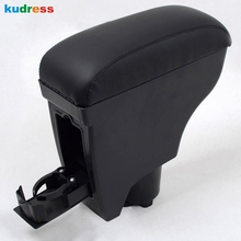 For Toyota Yaris Vitz Belta 2005-2011 Arm Rest Center Console Black Leather Armrest Interior Auto Accessories