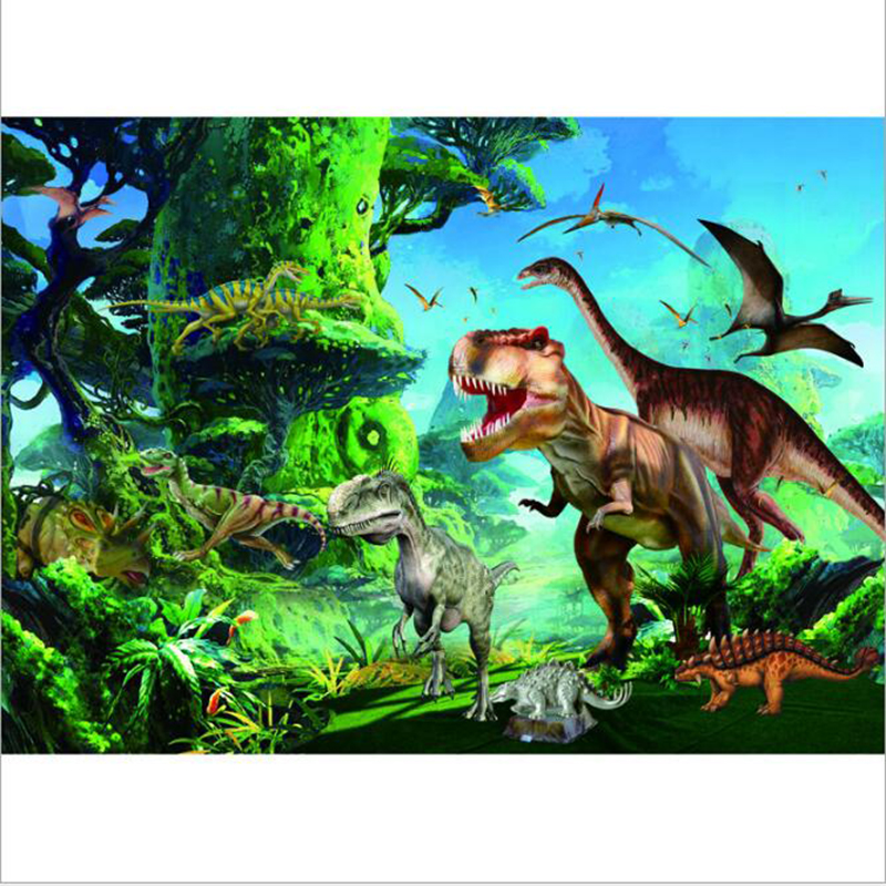 Dinosaur World Wooden Puzzle 1000 pcs puzzle educational toys card for adult children birthday gift(China (Mainland))