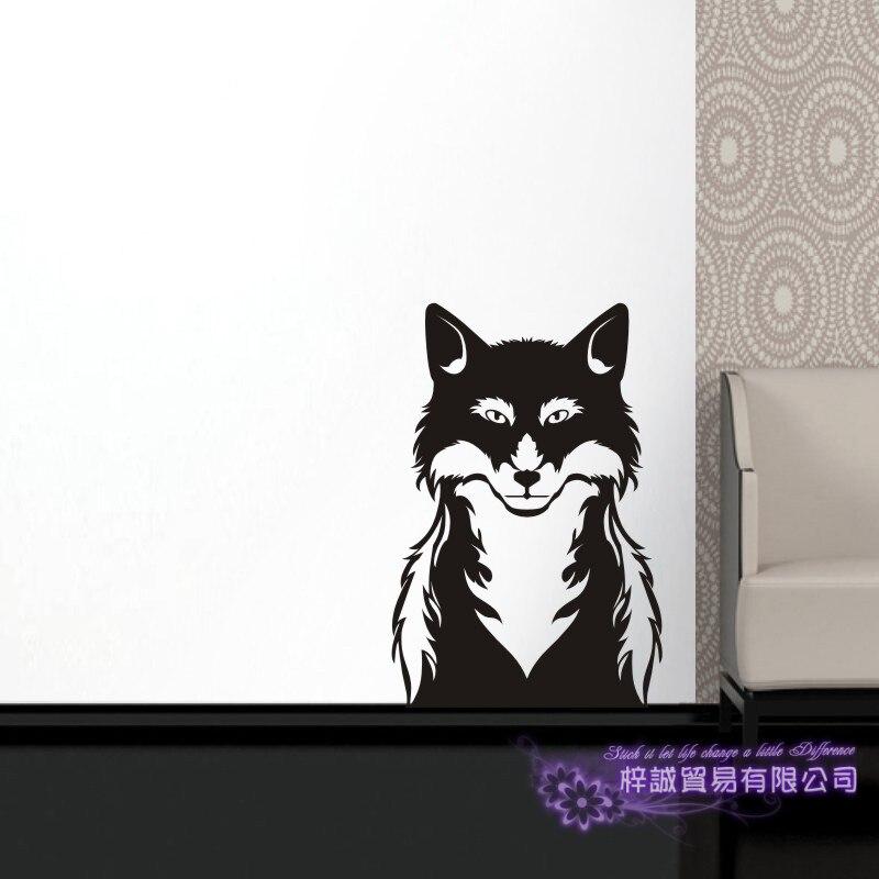 DCTAL Fox Wall Sticker Renard Decal Posters Vinyl Wall Art Decals Zorro Pegatina Decal Decor Mural Sticker