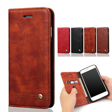 Buy Luxury Leather Wallet Phone Case iPhone 6 6S Plus 5 5S Flip Cover Bags Card Slot Stand Magnetic Funda Capa iPhone 7 Plus for $5.00 in AliExpress store