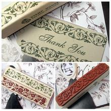 DIY Beautiful Design The Best Price Wooden Rubber Flower Lace Stamp Floral Seal Scrapbook Handwrite Wedding Craft For Decoration