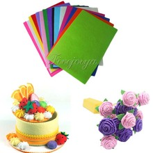 10 Pieces 20cm*30cm Handicraft A4 Sheets Felt Fabric Crafting 1mm thick Sewing Glue Scrapbooking DIY