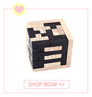 Colorful Wooden Tangram Tetris Game Brain Teaser Puzzle Toys Baby Preschool Magination Early Educational Kids Toy Children Gift 9