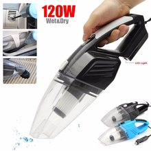 1 Set Black Blue Handheld Wet & Dry Dual Use Car Vacuum Cleaner Portable Rechargeable  Auto Home DC12V 120W