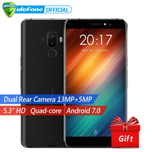 Ulefone S8 Dual Back Cameras Mobile Phone 5.3 inch HD MTK6580 Quad Core Android 7.0 1GB+8GB 13MP Cam Fingerprint ID 3G Cellphone