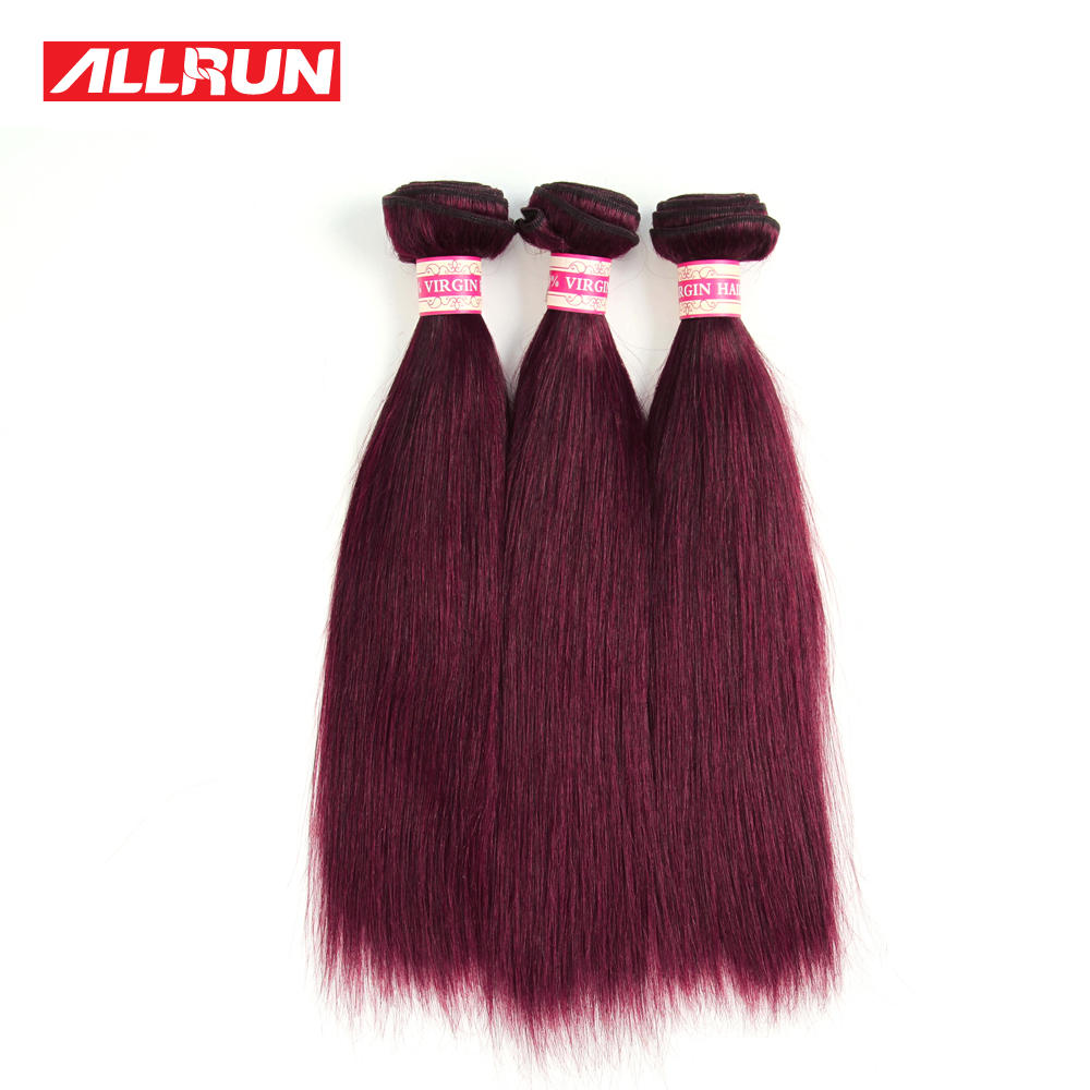3Pcs lot 8A Brazilian Virgin Hair Straight Red Wine Human Hair Extensions Burgundy Human Hair Weaves 99J Red Colored Straight<br><br>Aliexpress