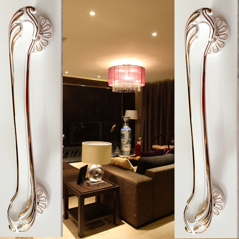 2018 New European Bronze Ivory Wooden  Glass Sliding Door Handle Hardware  Simple Chinese Antique Handle(C.C:257mm,L:320mm)<br>