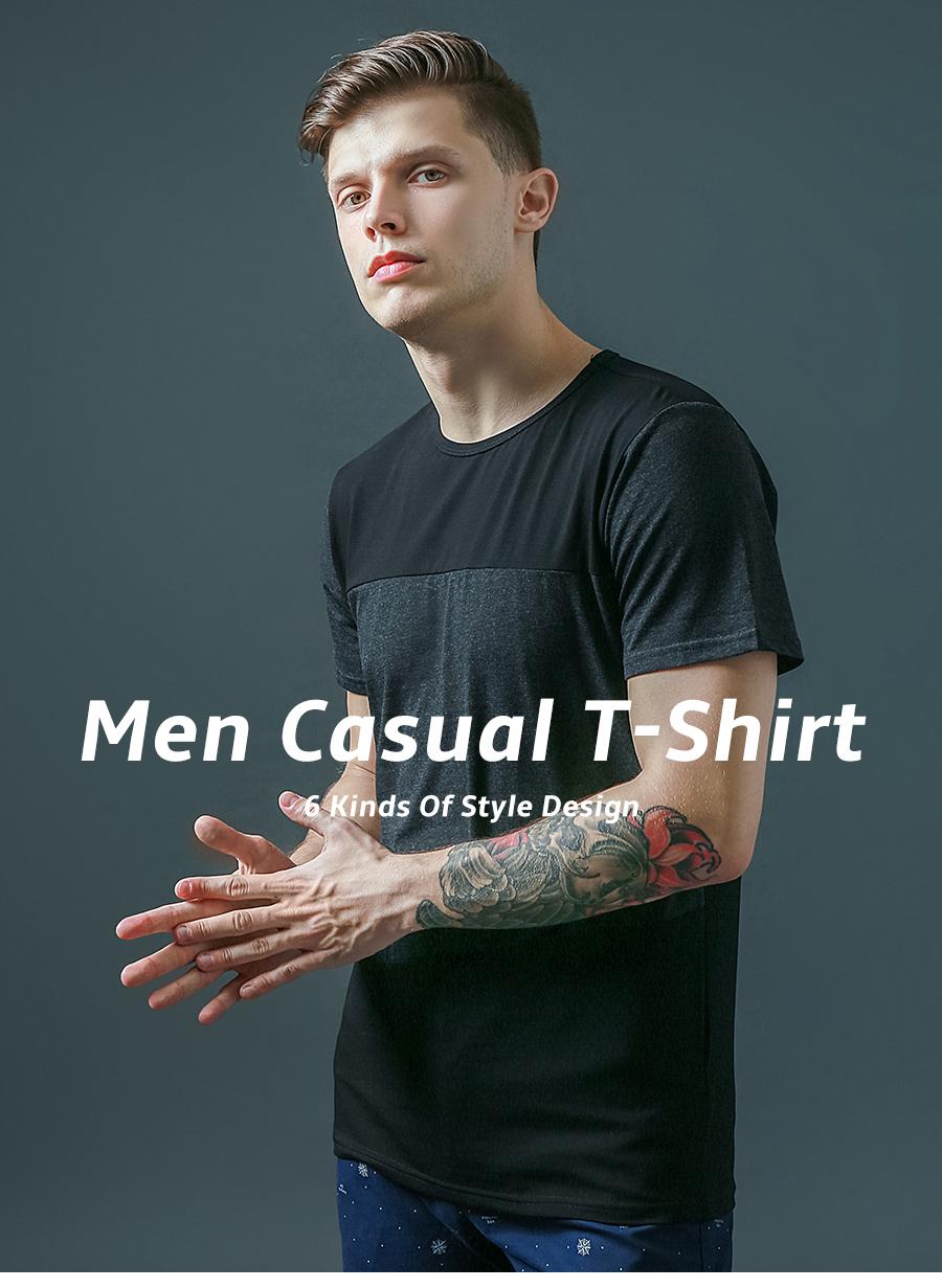 6 Designs Mens T Shirt Slim Fit Crew Neck T-shirt Men Short Sleeve Shirt Casual tshirt Tee Tops Mens Short Shirt Size M-5XL 21