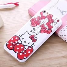 For apple iphone 5 5S 5G SE lovely sweet hello kitty case Ultra thin Dust plug soft cute cartoon cat cell phone back cover coque