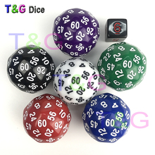 T&G dice High Quality Black 60 Sided D60 Big Dice Toy Dungeon and Dragons rpg d&d dados(China)