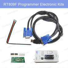 1set RT809F Hot Sale LCD USB RT809F EPROM FLASH VGA ISP AVR GAL PIC Programmer for 24-25-93 Series IC Free Shipping RT809F